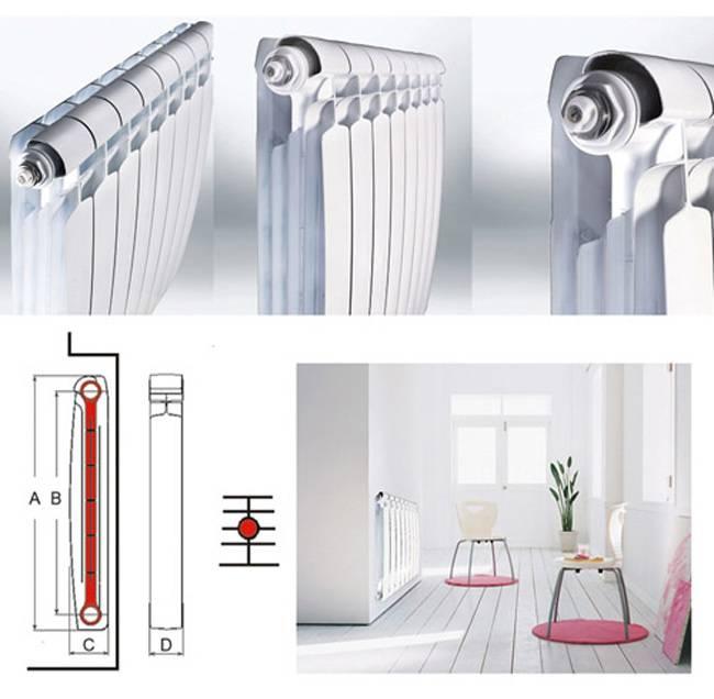 Устройство биметаллических радиаторов отопления, виды, их конструкция, комплектующие для батарей, фитинги, как они устроены