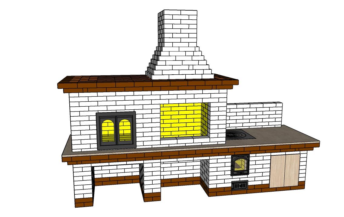 Барбекю из кирпича: схемы, чертежи, руководство по строительству, оформление и дизайн