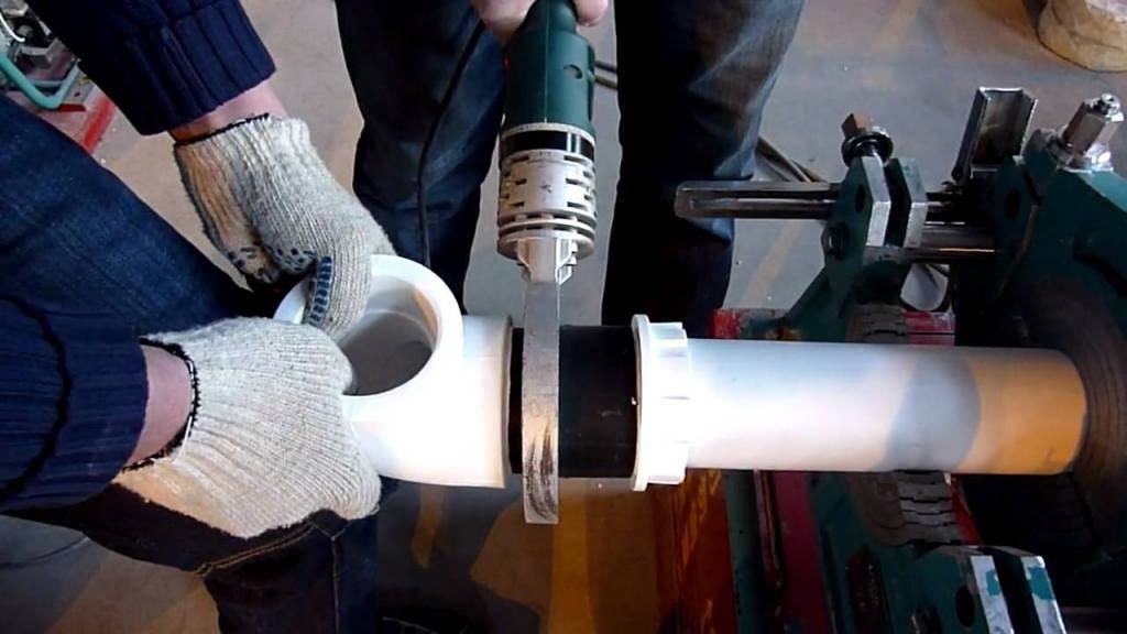 Пайка пластиковых труб своими руками: видео, инструкция