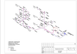 Аксонометрия трубопровода правила построения
