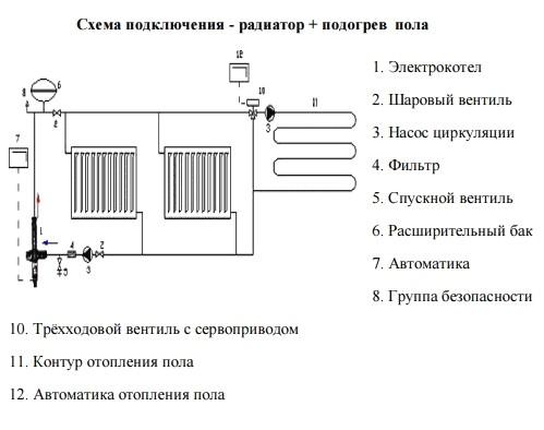 Схема подключения электродного котла галан   всё об отоплении