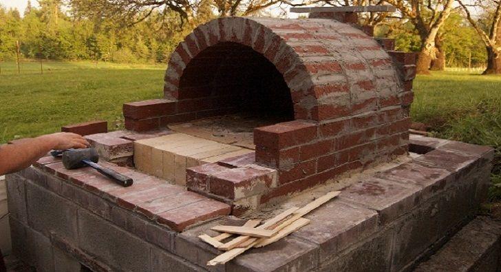 Строительство садовой печи на дачном участке