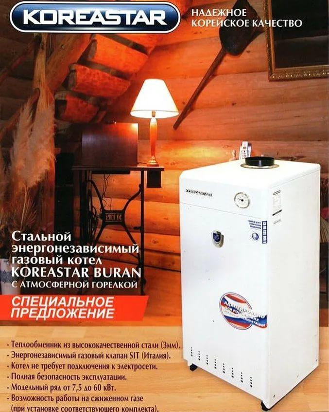 Газовые энергонезависимые котлы отопления