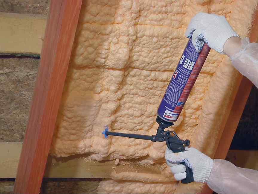 Как выполнить утепление дома монтажной пеной своими руками - жми!
