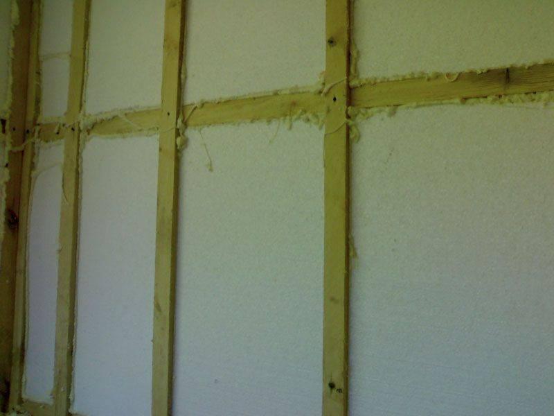 Утепление стен пенопластом своими руками внутри дома