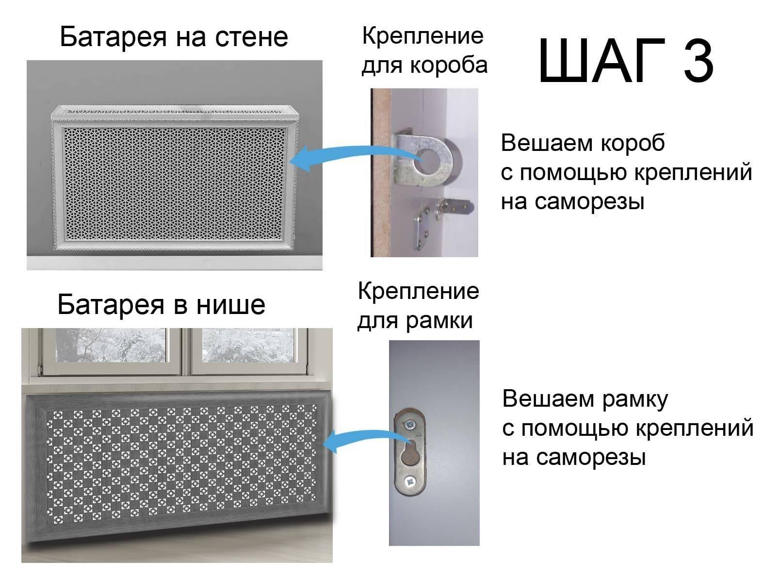 Экраны для батарей отопления: назначение, разновидности и установка