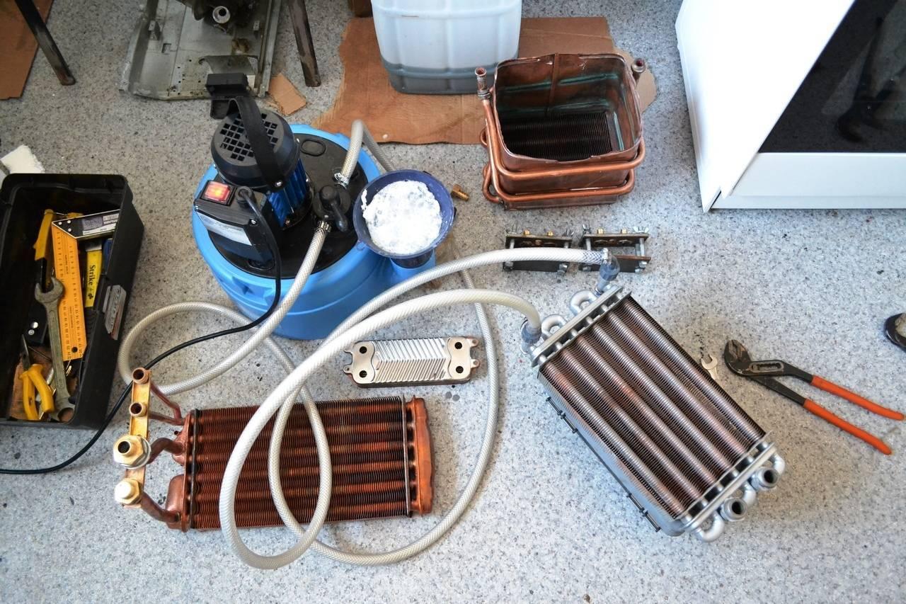 Промывка (чистка) теплообменника газового котла своими руками + видео