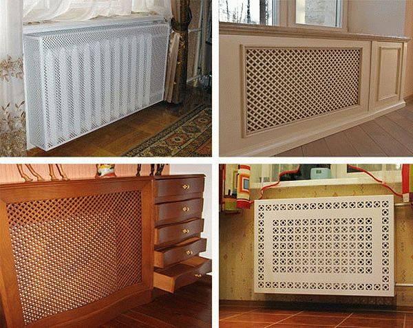 Экраны на батарею отопления: обзор декоративных решеток для радиаторов