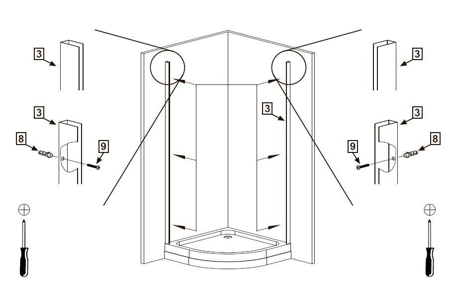 Душевая кабина своими руками в квартире с поддоном: план работ