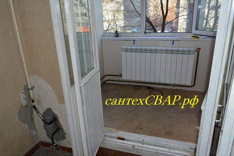 Отопление на балконе варианты, разрешение, вынос батареи в лоджию