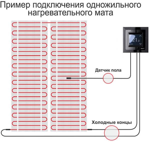 Подключение теплого пола к электричеству своими руками: схема соединения от а до я
