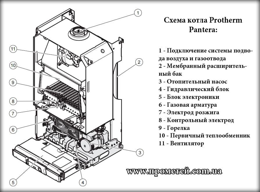 Обзор чугунных газовых котлов protherm медведь klom