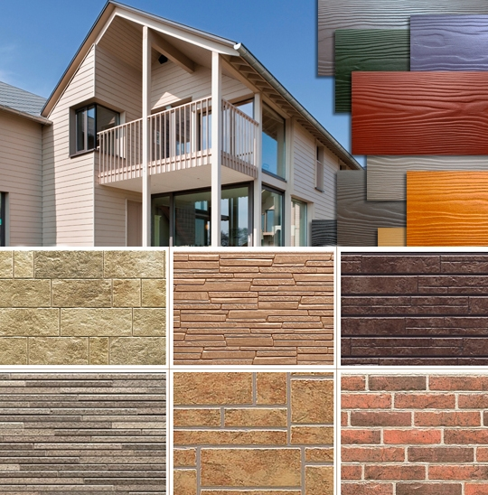 Варианты фасадных панелей для отделки дома снаружи