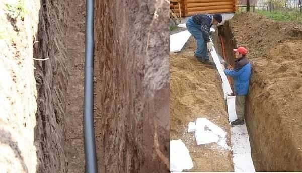 Утепление водопровода в земле, и теплоизоляция наружных веток