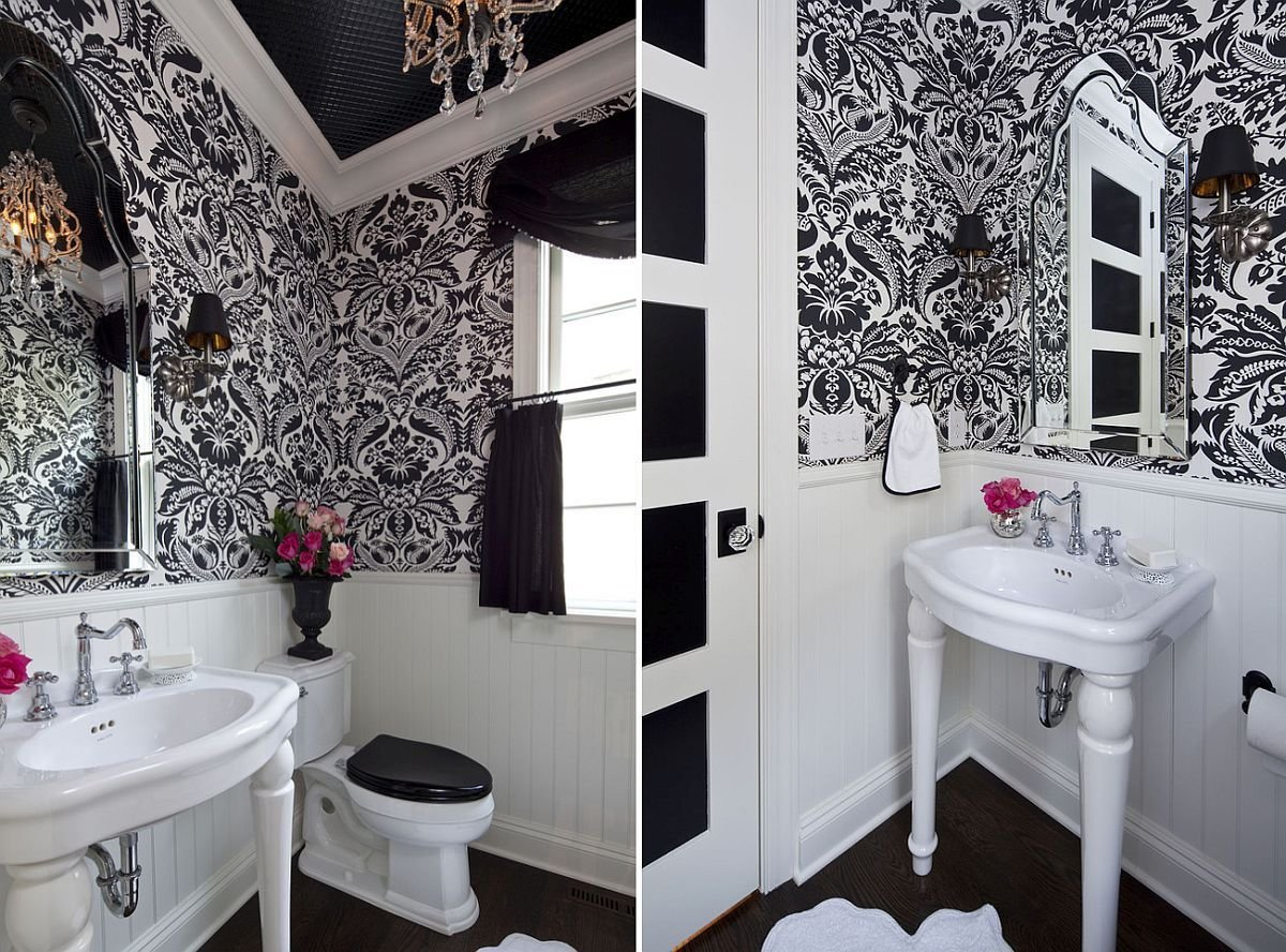 Черная ванная: 100 фото модных новинок дизайна интерьеров
