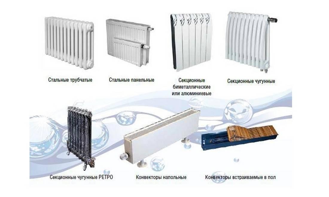 Основные приборы отопления. виды, сравнение, отличия.