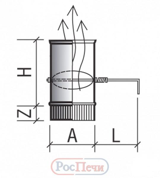 Шибер для дымохода своими руками - чертежи и порядок изготовления