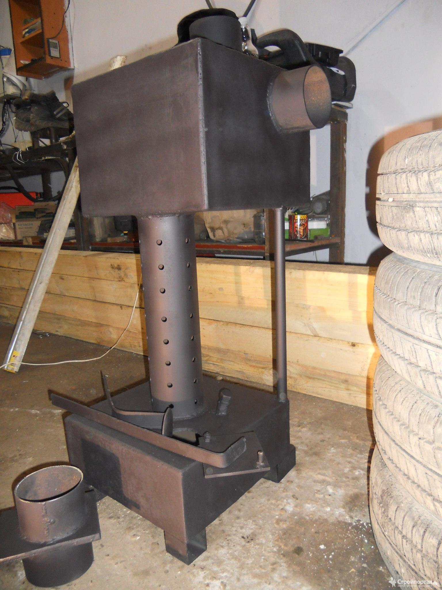 Самодельная печь на дровах или отработанном масле: конструкция, чертежи, пошаговая инструкция по изготовлению