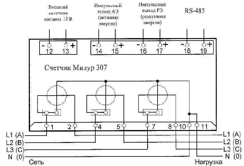 Схема подключения однофазного электрического счетчика: делаем всё правильно
