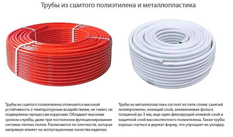 Трубы для теплого пола – полиэтилен или металлопластик?