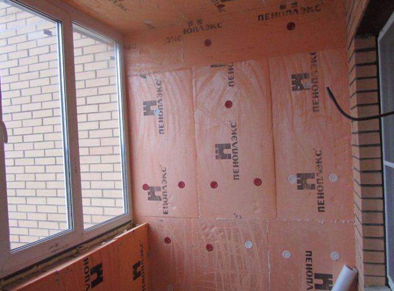 Утепление лоджии пеноплексом: характеристика материала, внутренняя и наружная отделка балкона своими руками