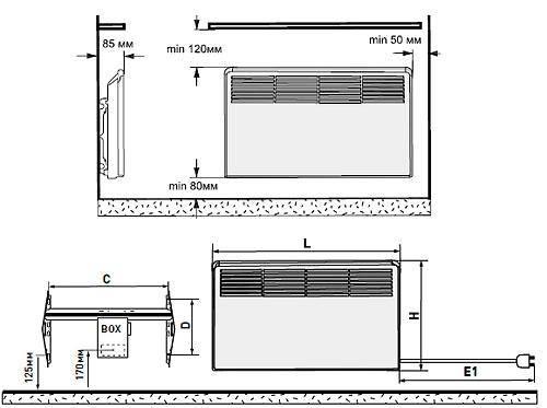 Монтаж и установка конвектора на стену своими руками