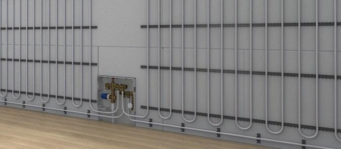 Установка отопления в стенах