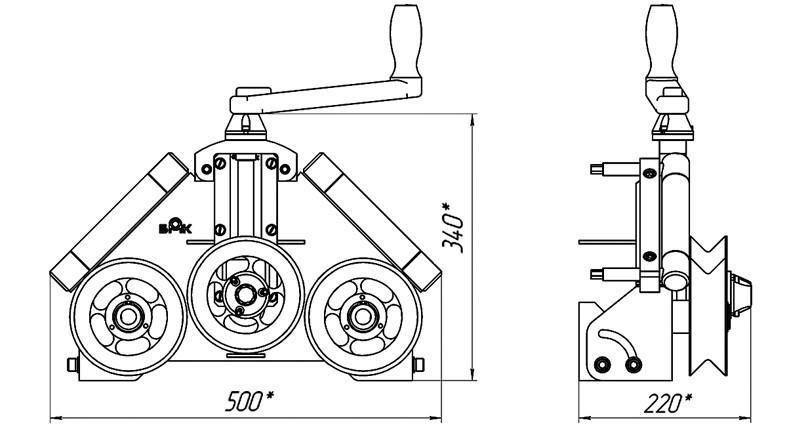 Трубогиб своими руками для круглой трубы: чертежи, размеры, видео