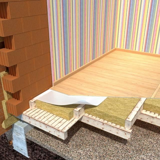 Выбор утеплителя для пола деревянного дома