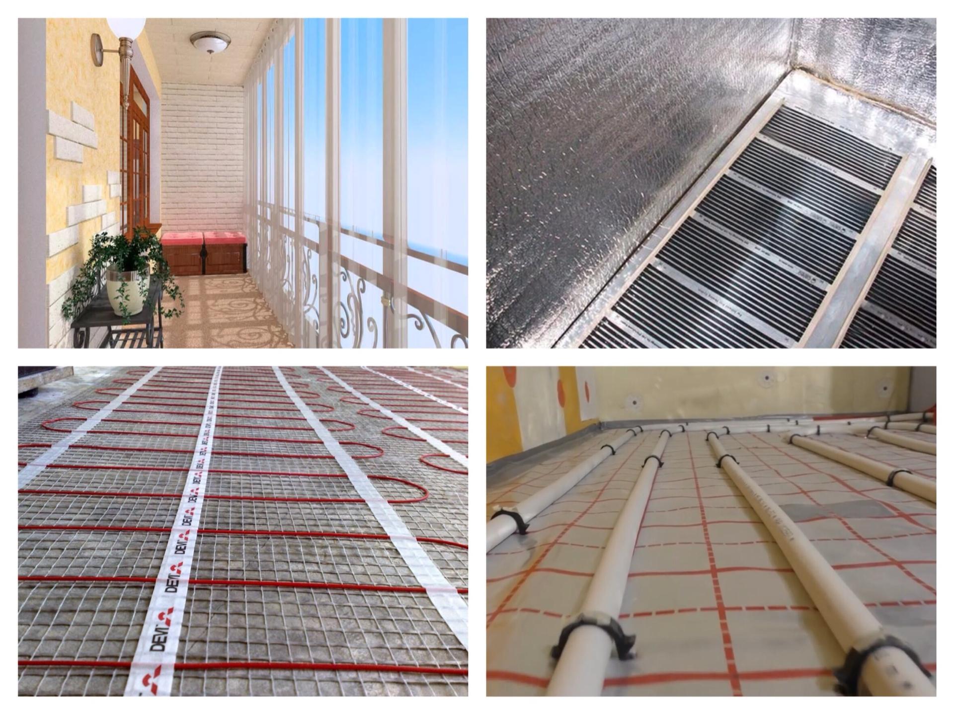 Теплый пол на лоджии своими руками: под ламинат, под плитку, как сделать на балконе с подогревом, какой лучше, водяной или электрический, нужен ли, укладка на фото и видео