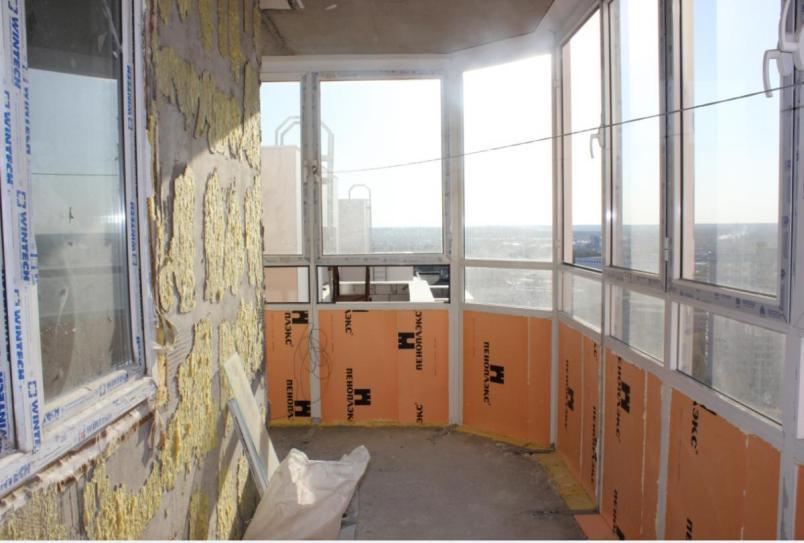 Как утеплить стеклянный, витражный, французский балкон своими руками