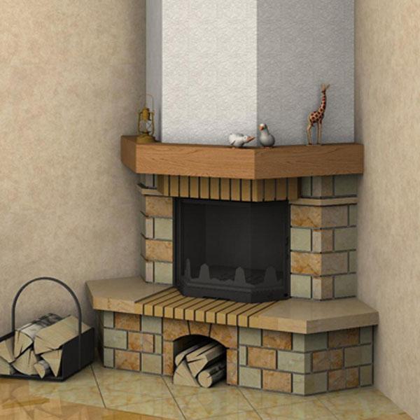 Камины из кирпича (80 фото): кирпичные угловые печи для загородного дома своими руками, размеры