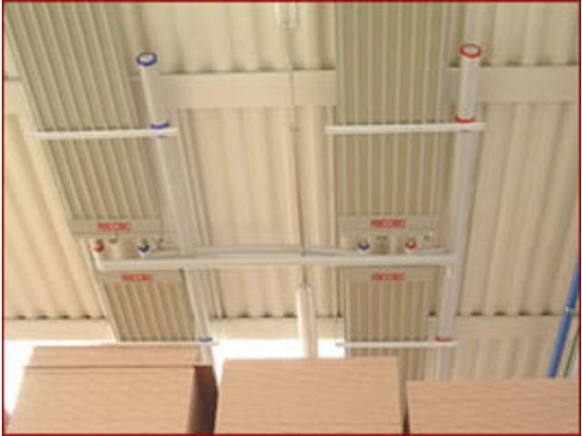 Электрические и гидравлические панели лучистого обогрева