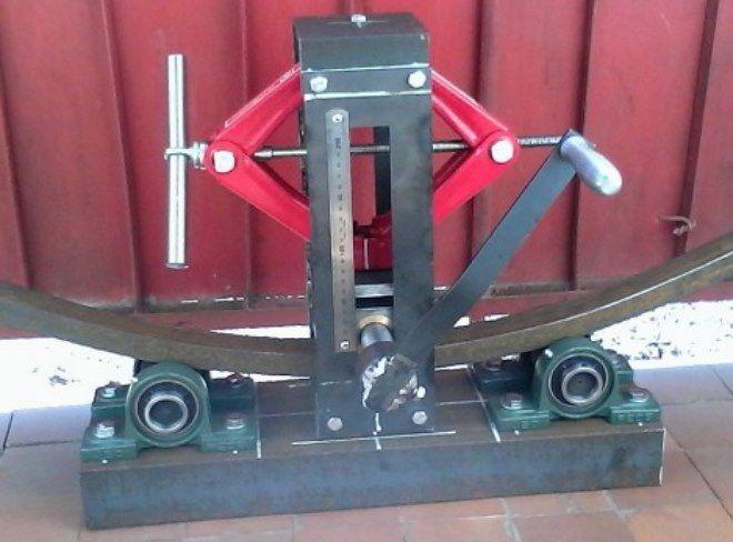Трубогиб из домкрата своими руками - фото и видео инструкция