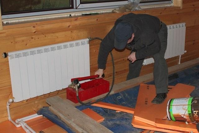Опрессовка системы отопления: правила, условия выполнения, методы своими руками