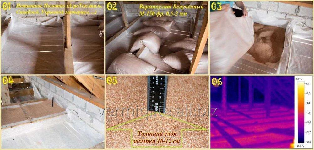 Утеплитель вермикулит, теплоизоляция стен с его помощью, технические характеристики