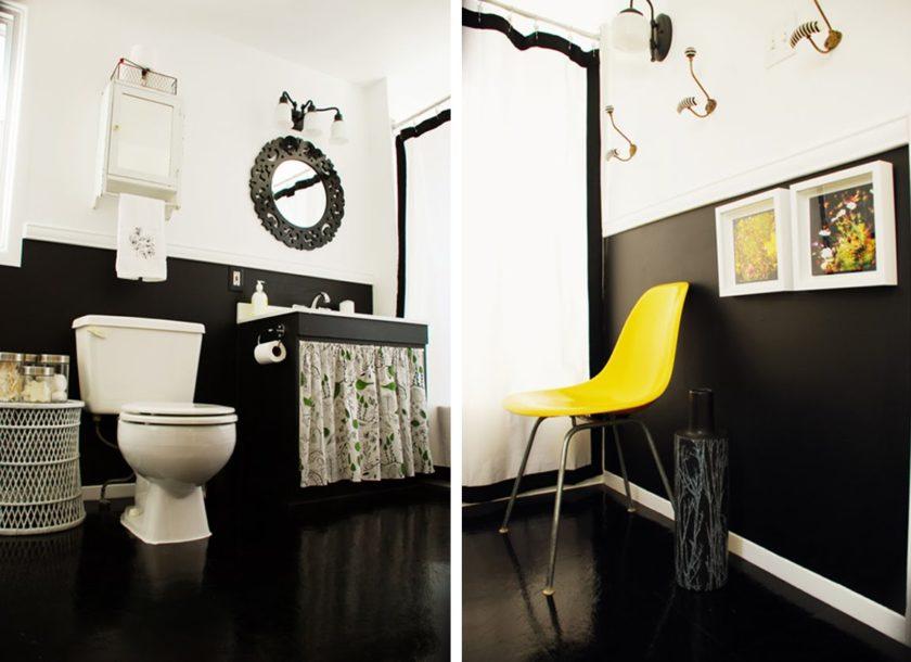 Грамотный дизайн черной ванной комнаты: идеи и сочетания темного цвета