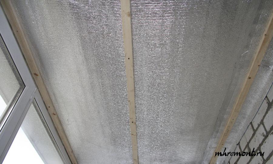 Утепляем потолок на балконе или лоджии своими руками