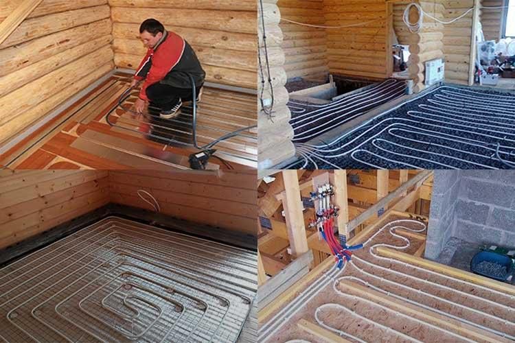 Водяные теплые полы на деревянный пол: устройство и монтаж / zonavannoi.ru