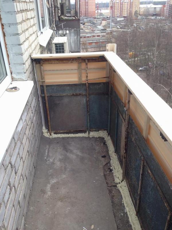 Внутренняя отделка балкона в хрущевке - билдмэн