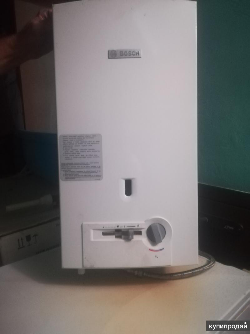 Модели газовых проточных водонагревателей Бош
