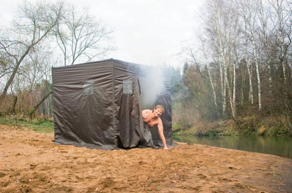 Походная баня - как попариться в лесу?