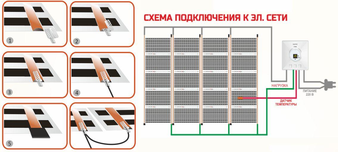 Особенности подключения теплого пола к терморегулятору