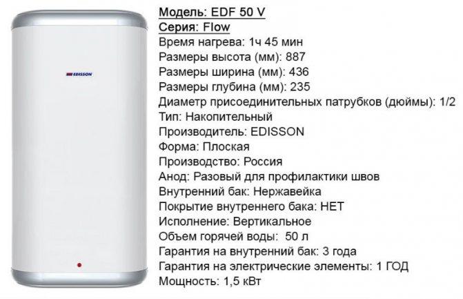 Подбор и характеристики водонагревателя на 50 литров умеренной стоимости