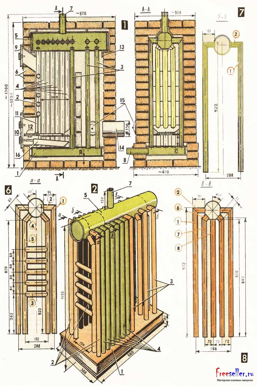 Теплообменник для печи на дровах: назначение, виды, изготовление своими руками