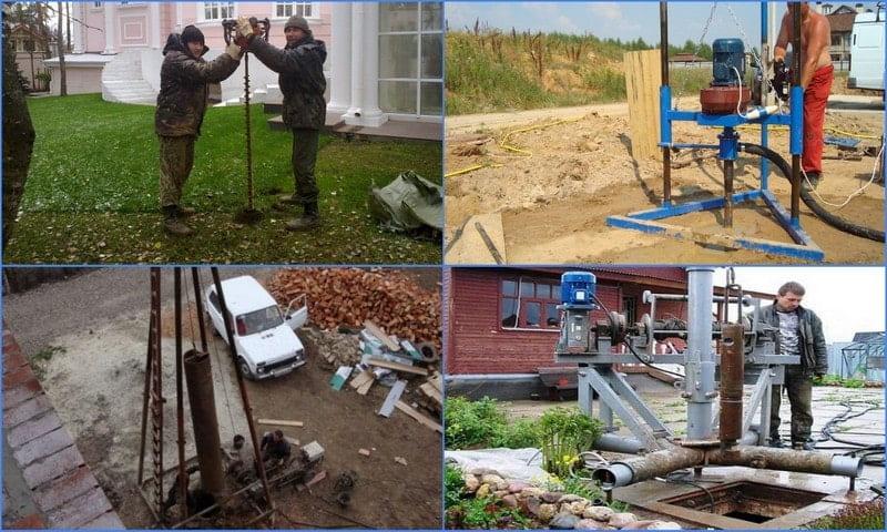 Ручное бурение скважин на воду - методы, оборудование, инструменты, порядок работ
