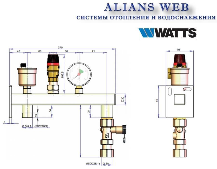 Выбор и монтаж группы безопасности для системы отопления