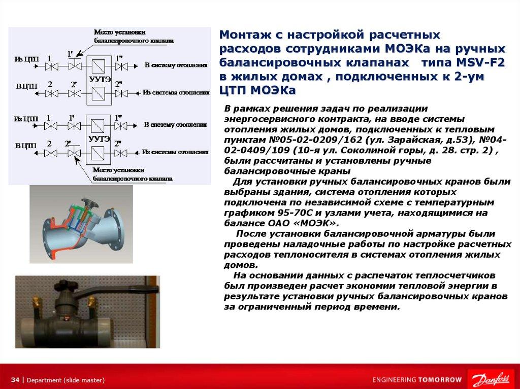 Балансировочный клапан для системы отопления - выбор и установка