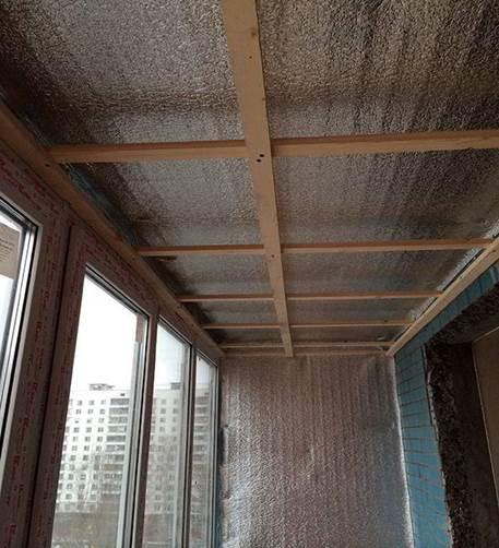 Утепление балкона пенофолом - этапы работ