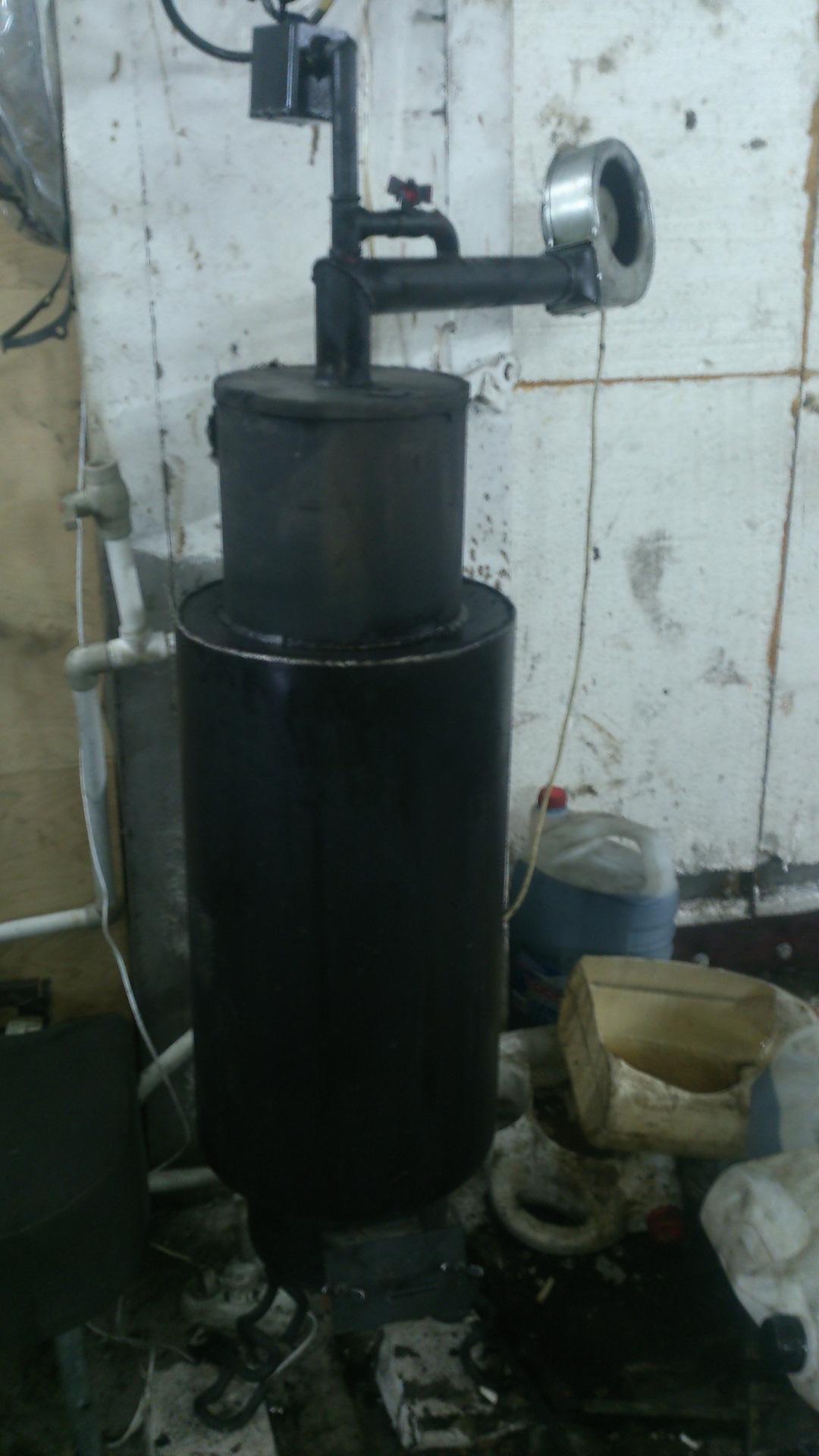 Котлы на отработке с водяным контуром: особенности оборудования, как своими руками сделать масляный отопитель